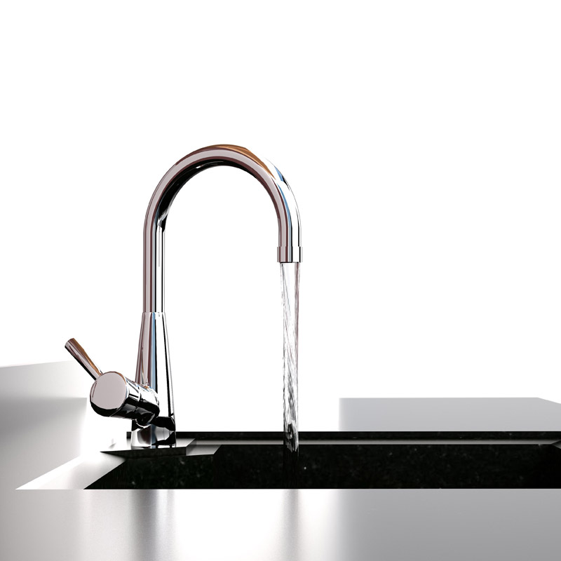 modern tap and sink